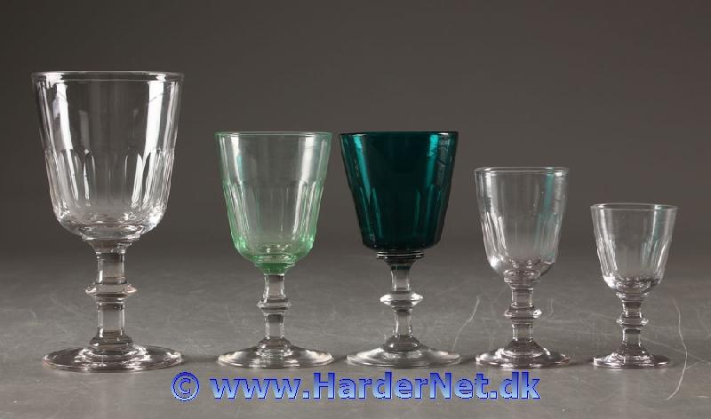 Ubrugte BERLINOIS - CHRISTIAN VIII GLAS - Holmegaard Glasværk 1867-1942 UU-78