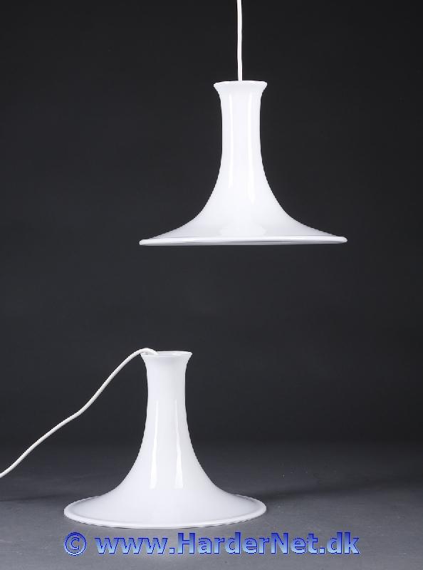 Velsete MANDARIN LAMPE - Michael Bang, Holmegaard Glasværk 1983 EU-06